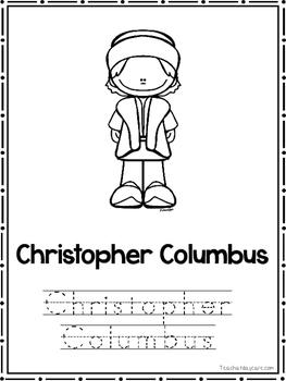 New World Explorers Coloring Book worksheets.  Preschool-2nd Grade