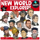 New World Explorers Clip Art Bundle {Educlips Clipart}