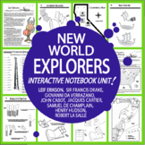 New World Explorers Interactive Notebook–9 Explorers of the New World Lessons!