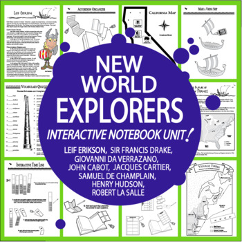 New World Explorers Interactive Notebook Unit – NINE European Explorers Lessons!