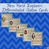 New World Explorers Differentiated Station Cards