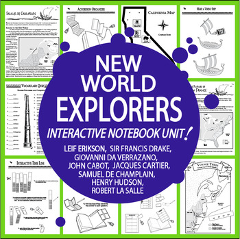 New World Explorers Interactive Notebook (HARD COPY) Explorers of the New World