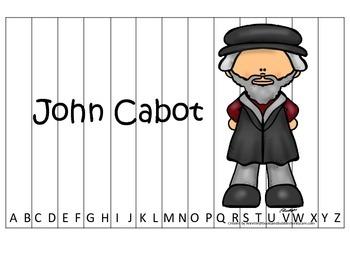 New World Explorers (John Cabot) themed Alphabet Sequence