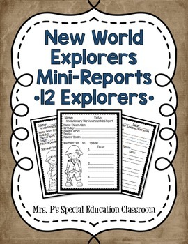 New World Explorers Mini-Reports