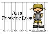 New World Explorers (Ponce de Leon) themed Alphabet Sequence Puzzle preschool ga