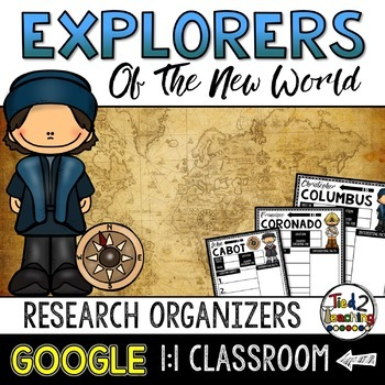 Columbus Day New World Explorers Research Organizers: Google Classroom