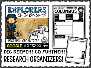 New World Explorers Research Organizers: Google Classroom