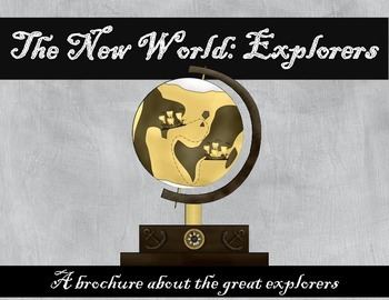 New World Explorers brochure during the Age of Discovery