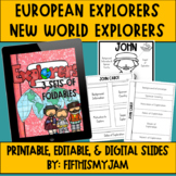 New World/New Age European Explorers Interactive Notebook