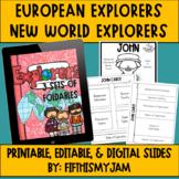 New World/New Age European Explorers Interactive Notebook