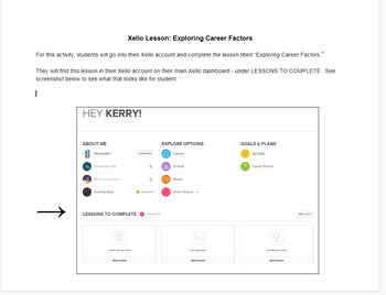 New Xello Lesson Example