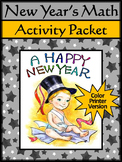 New Year's Math Activity Packet