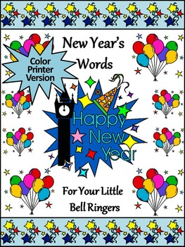 New Year's Spelling Activities: New Year's Words Flash-car