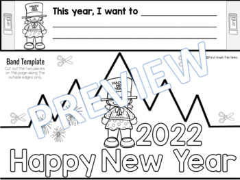 New Years 2018 Crowns, Printables and New Years Resolutions 2018