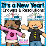 New Years 2019 Crowns, Printables and New Years Resolutions 2019