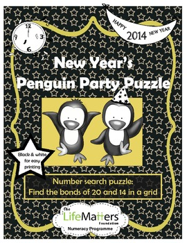 New Year 2014 Penguin Party Puzzle