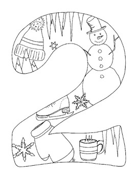 New Year 2017 Coloring Pages pdf Seasons Winter Spring Sum