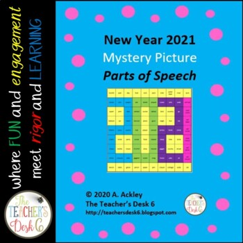 New Year 2017 Mystery Picture Parts of Speech