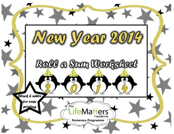 New Year 2014 Roll a Sum Penguin Worksheet FREE