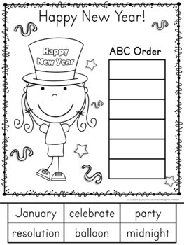 New Years 2018 Math and Literacy
