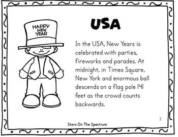 New Year 2018 Craftivity New Years  Around the World USA