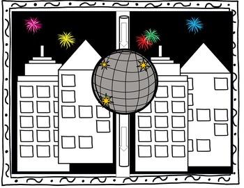 New Year 2019 Craftivity New Years  Around the World USA