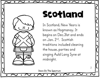 New Year 2019 Craftivity New Years Around the World Scotland