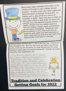 New Years 2018 Activities and Resolutions for 3rd Grade, 4th Grade, 5th Grade