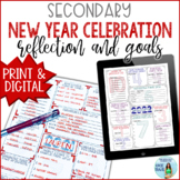 New Years 2019 Reflection and Goal Setting for Secondary Students EDITABLE