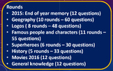 Back to school: New Year (2016): Start the year quiz.