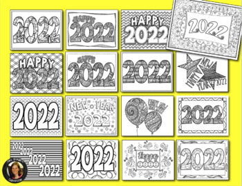 New Year 2020 Coloring Pages for Teens and Adults by ...