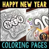 New Year 2021 Coloring Pages for Teens and Adults