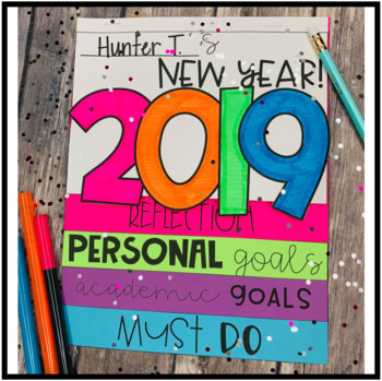 New Year's 2018 Activity  - Flipbook and Digital Resource