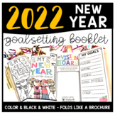 New Year 2018 Goal-Setting Booklet with Vision Board
