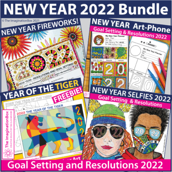 New Year 2019 Activities Bundle, Art and Writing