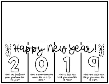 New Year 2019 Activity - Flipbook