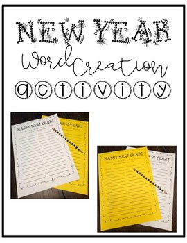 New Year 2019 Activity - Word Creation