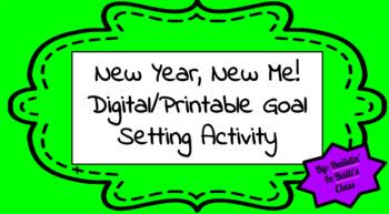 b5300a733294 New Year 2019 Digital Printable Goal Setting Slides Activity