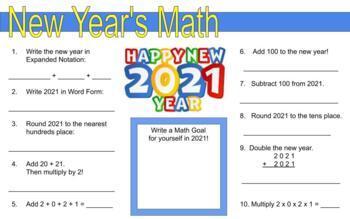 New Year 2019 Math