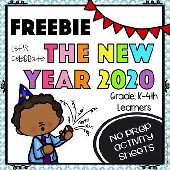 New Year 2020 Activity FREEBIE
