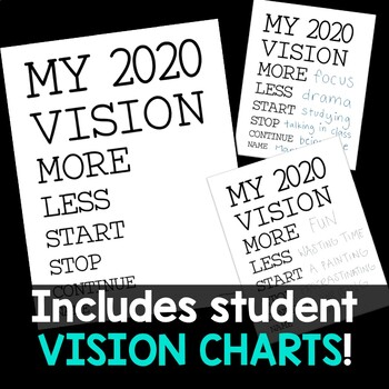 New Year 2020 Vision Bulletin Board Kit