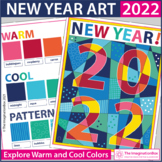 New Year 2021 Coloring Pages | Warm and Cool Colors Art Lesson