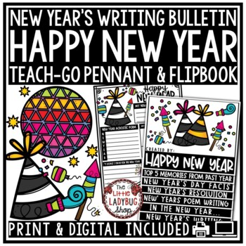 Happy New Years Activities 2019 Flip Book & Making a New Years Resolution 2019
