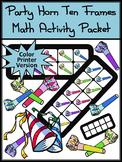 New Year's Ten Frames: Party Horns Ten Frames Math Activity Packet