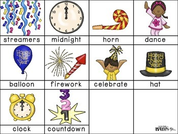 New Year ABC Order Cut and Paste FREEBIE: Level 2