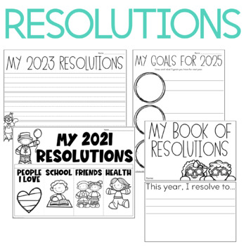 New Year  Printables, Flipbooks, and Activities