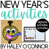 New Year 2019 {Craft, Directed Drawing, and Writing Activities}