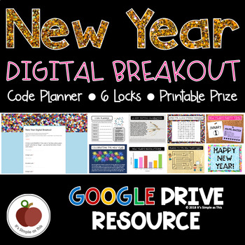 New Year Activities - New Year Escape Room - New Year Breakout - Digital