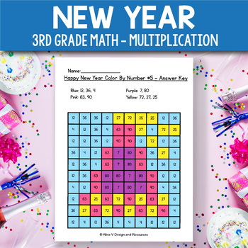 New Year Activities for 3rd Grade - New Year Multiplication Worksheets