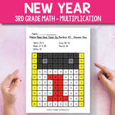 New Year Activities for 3rd Grade - New Year Multiplicatio